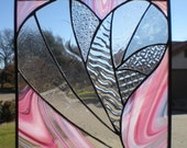 Stained Glass Heart - Love is (Clearly) Pink
