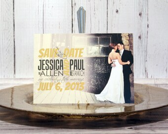 "Vintage Save the Date Card –Wedding Save the Date Card –Modern Save the Dates –Batman Comic Book Save the Date –""Modern yet Vintage"" Deposit"