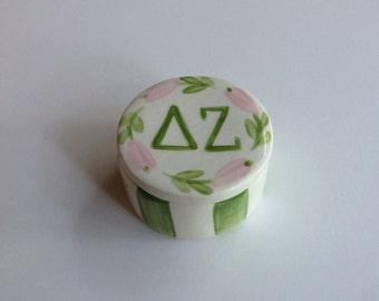 Delta Zeta Round Pin Box