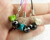 Spirited Away inspired Soot Sprite and star candy cell phone charms