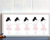 Custom set of 2 Ballerina 10x20 inch Prints