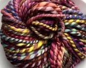 SALE! Bulky two-ply handspun yarn organic polwarth falklands