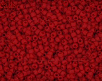 TOHO 11/0 seed beads 10g Opaque-Frosted Cherry size Nr. 11-45AF Matte Red last