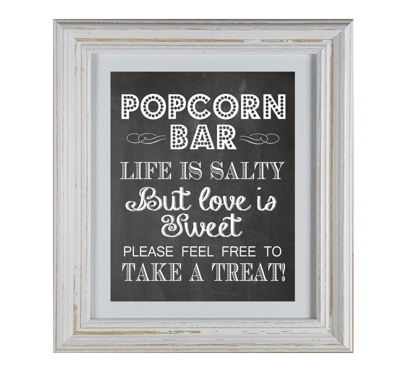 Popcorn Bar Chalkboard Sign Diy Printable By Decorabledesigns
