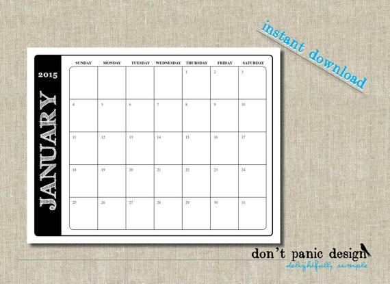 Blank Calendar Blocks : Printable black block rustic font wall by dontpanicdesign