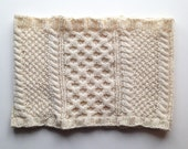 Warehouse Sale - Wool Honeycomb Cable Knit Cowl - Cream