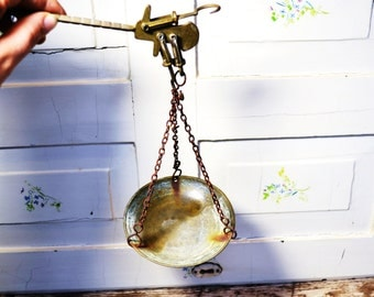 Antique Scale Balance Medical Apothecary Weighing Scale Balance Tool Country Decor