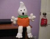 Sammy the ghost pumpkin Crochet Pattern PDF File