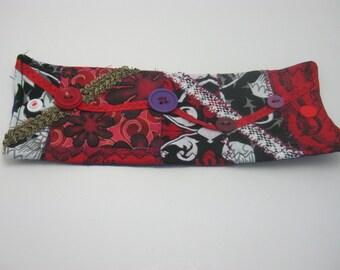 Patchwork Gypsy Patchwork Fabric Bracelet Cuff