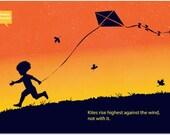 minimalist quote music poster/ print/ design Winston Churchill 11X17