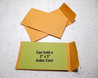 "25 Small Kraft Envelopes, Coin Envelopes, 3 1/8"" x 5 1/2"""