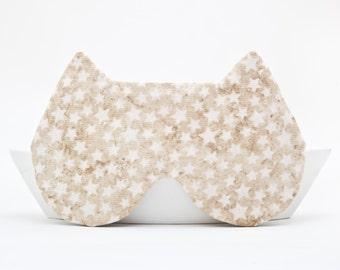 Cat Sleep Mask with the Stars, Slumber Party Sleep Masks, Travel Sleep Masks, gift for her