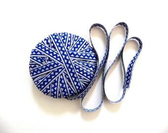 Blue and White Zig Zag Ribbon Braid Trim