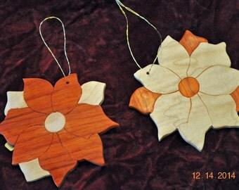 Poinsettia Flower ornaments- 2