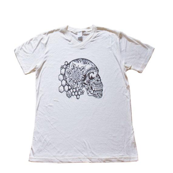 Mandala Sugar Skull Bamboo V Neck T Shirt Men My Sugar