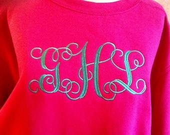 Comfort Colors Sweatshirt with Vine Monogram
