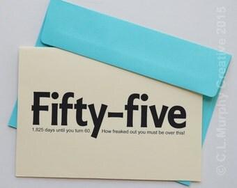 DOWNLOAD, 55th Birthday, Turning 55, 55 Birthday, Happy 55th, 55th Birthday Card, Birthday Humor, Milestone Birthday