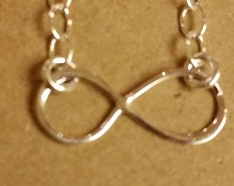 Infinite, infinite necklace,  sterling silver necklace, pendant necklace, sterling silver chain necklace, sterling silver