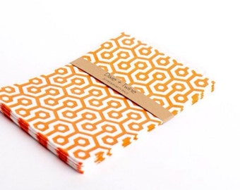 20 Orange Honeycomb Bitty Bags 5 x 7.5/ paper bags/ party bags/ treat bags/ honeycomb bags/ orange bags/ birthday bags