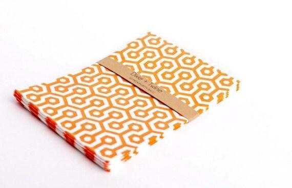 SALE 20 Orange Honeycomb Bitty Bags 5 x 7.5