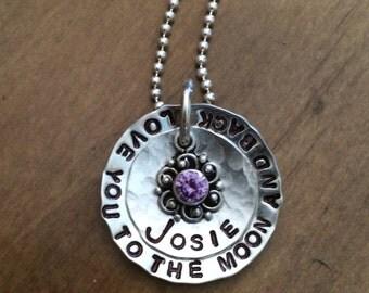 Love you too the moon.... Purple charm