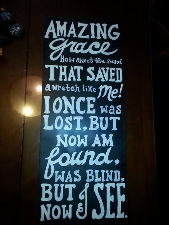 Amazing Grace Lyric Sign