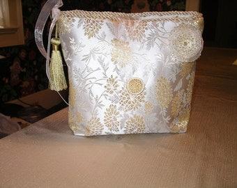 Golden Chrysanthemum Lingerie Bag