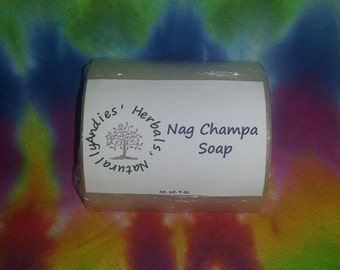 Nag Champa Soap 4 oz.//Organic Oils Soap//Organic Soap Bar scented with Nag Champa