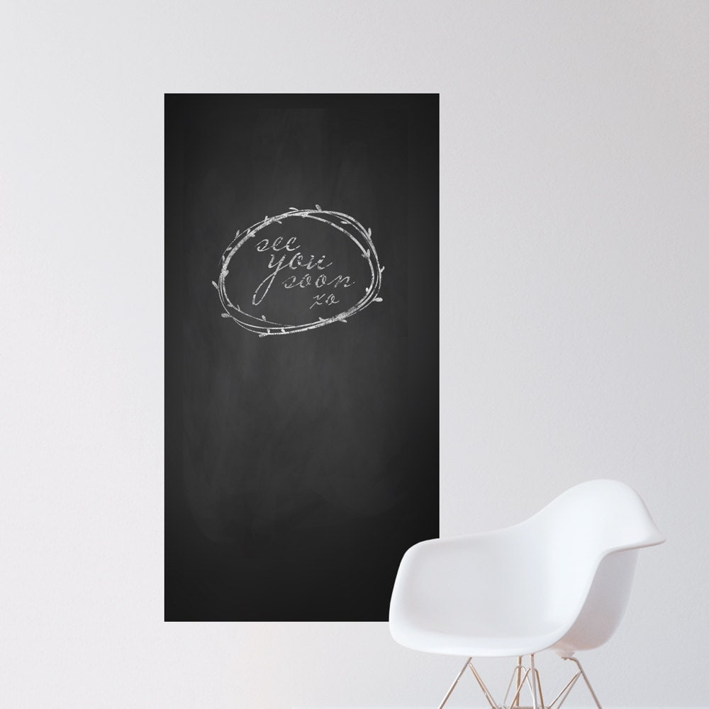 black chalkboard wall decal x panel vinyl decal sticker - 🔎zoom