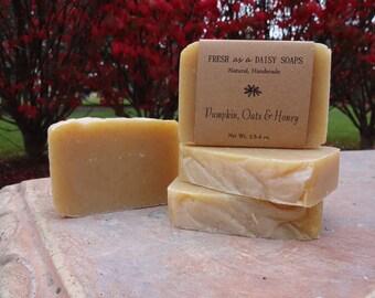 Pumpkin, Oats & Honey, Natural Handmade Soap, Cold Process Soap, Gluten-Free