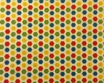 Cruiser Blvd - Hexagon Yellow - 1 Yard Cut -  Riley Blake Designs - Yellow Fabric - Cotton Fabric - Quilting Fabric