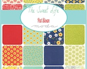 "The Sweet Life Charm Pack Moda Sample Spree Sale Fabrics 42 - 5"" Fabric Quilt Squares Kit"