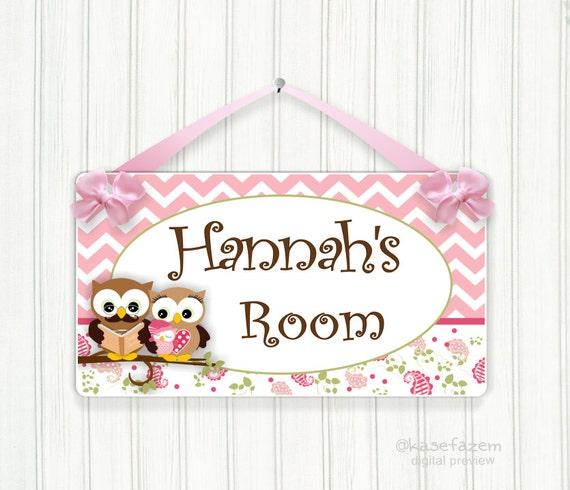 Personalized Baby Girl Bedroom Door Sign Dad Mum By Kasefazem