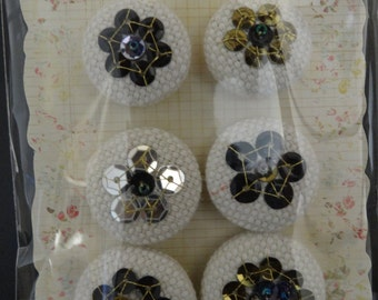 Prima Flowers - Shalimar Collection - Chrisitta - Sequin Buttons