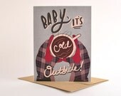 Christmas Cards / Christmas Card Set / Holiday Card Set / Baby It's Cold Outside Card Pack