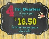 4 FAT QUARTERS of your choice - ships from Australia