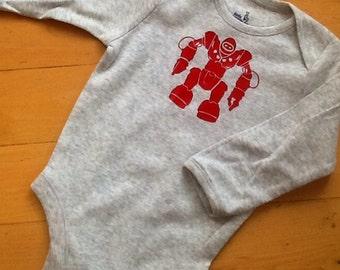 """Infant """"robot"""" onesie/creeper/bodysuit/long sleeve"""