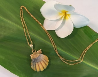 Sunrise Shell 18kt Gold dipped necklace