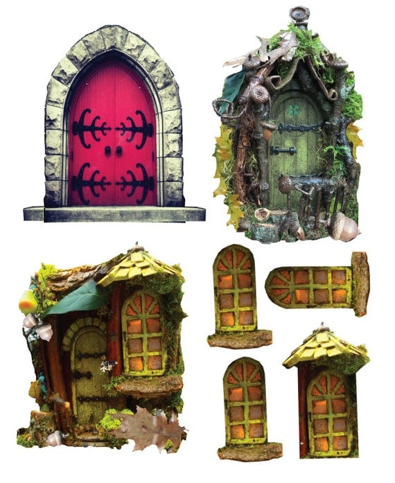 Items similar to diy fairy door and free ideas on etsy for Idea behind fairy doors