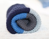 Hand Knitted 100% Organic Cotton Baby / Toddler Blanket