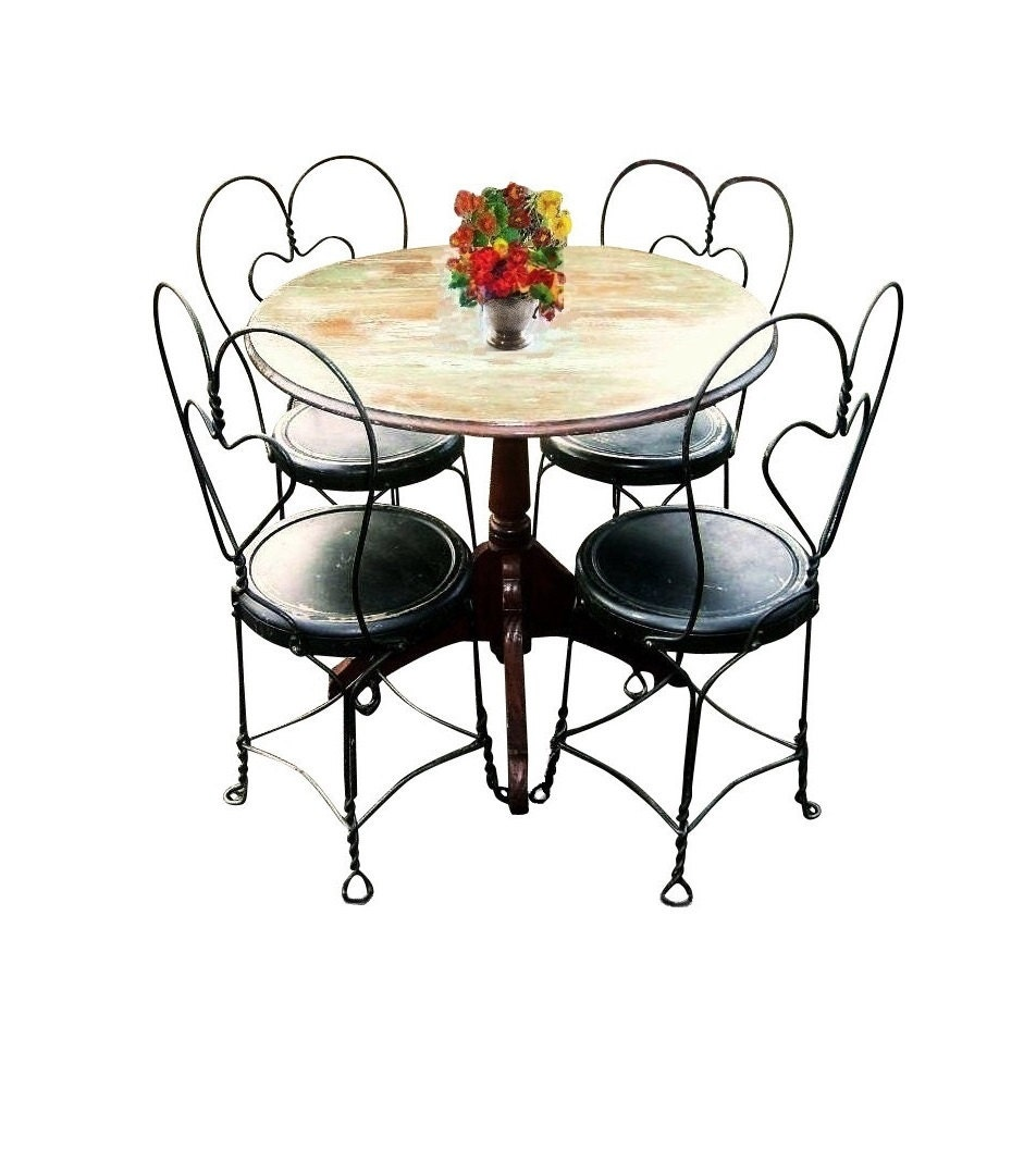 victorian industrial rare bistro set french country cafe. Black Bedroom Furniture Sets. Home Design Ideas