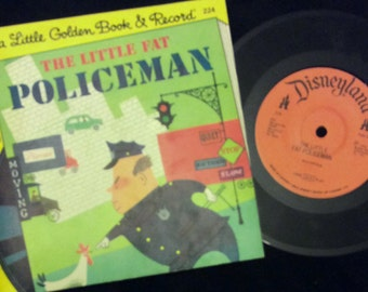 vintage Tunes ... Little Golden a Book and Record - The LITTLE FAT POLICEMAN book and 45 Record  ...