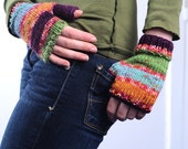 Multi-Colored Fingerless Gloves