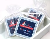 Nautical Baby Shower, Baby Shower Favors, Soap shower favor - Set of 10 Favors