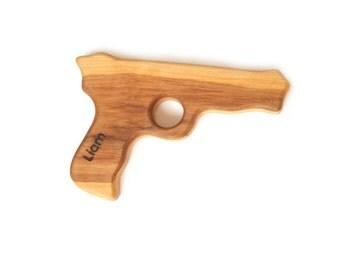 Personalized Gun toy for boy. Wooden Gun - toy for kids. Handmade kids toy. Wooden eco friendly gun.