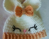 Olivia the Bunny Crochet Hat - Made To Order