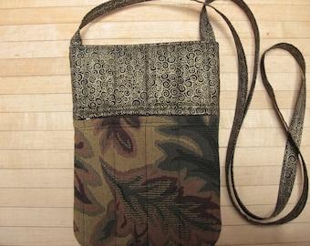 small tapestry crossbody bag or shoulder purse handmade sling bag hipster small travel bag