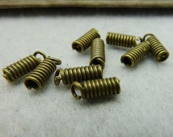 100PCS antique bronze 3x10mm spring buckle charm connector- XC6290