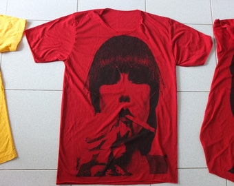 Karen O New Wave Punk Rock Red T-shirt M