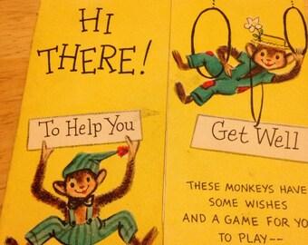 Monkey Get Well Card